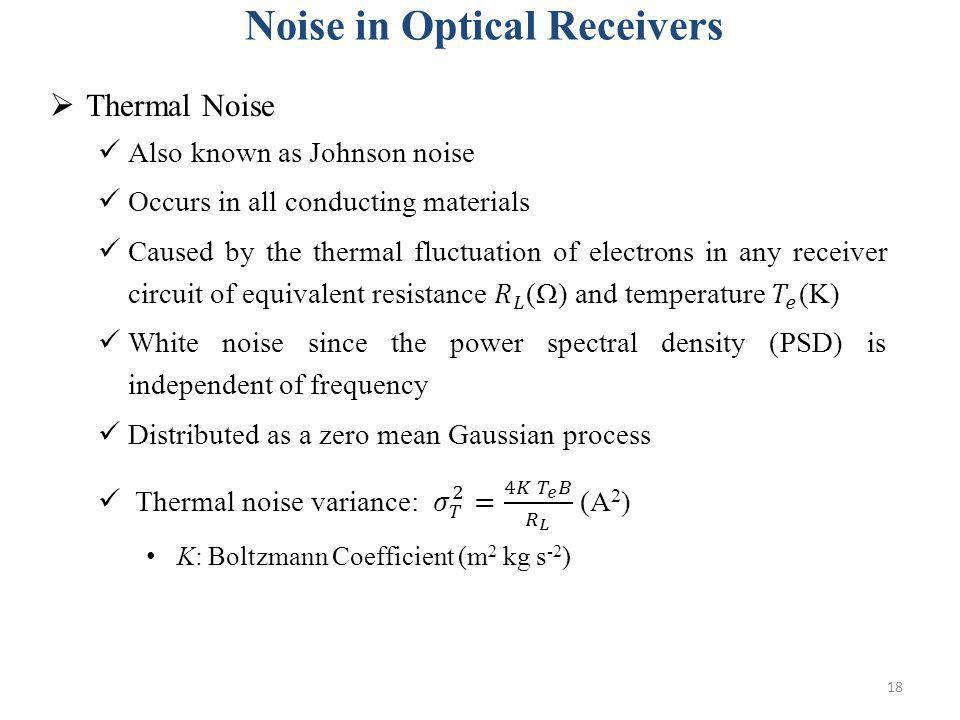 18 Noise in Optical Receivers