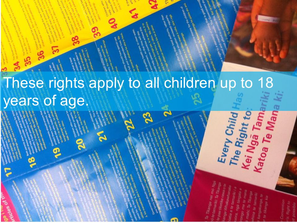 The Government should make these rights known to all children and adults.