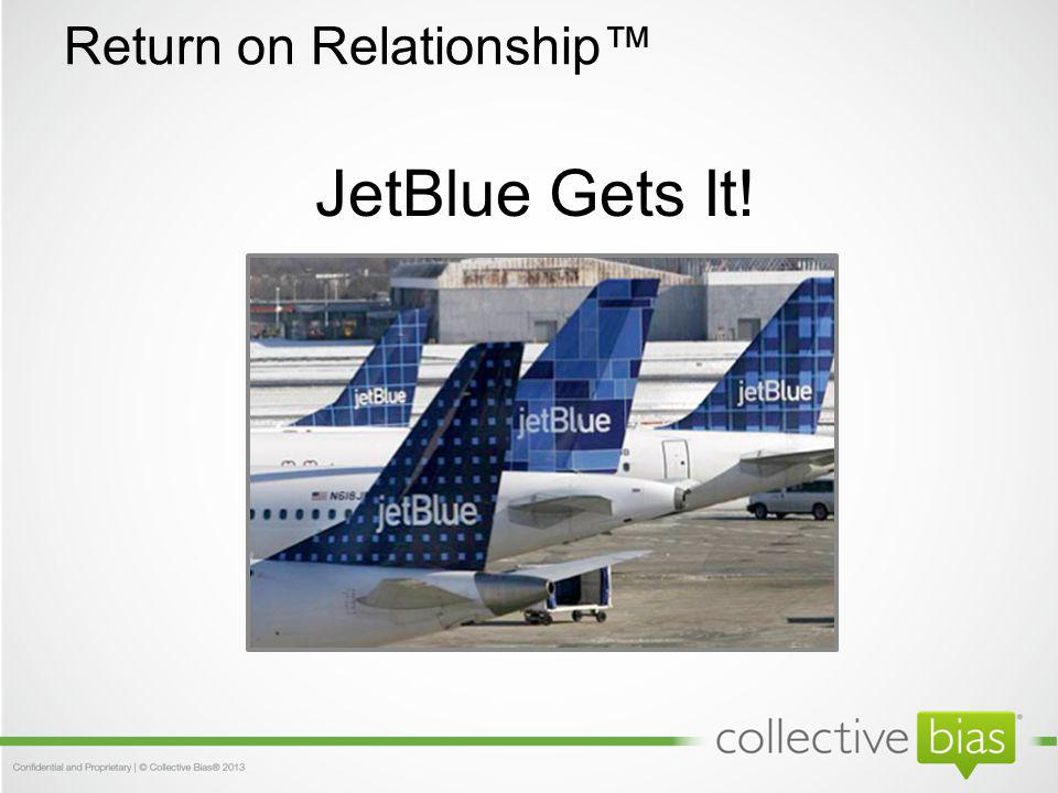 JetBlue Gets It! Return on Relationship