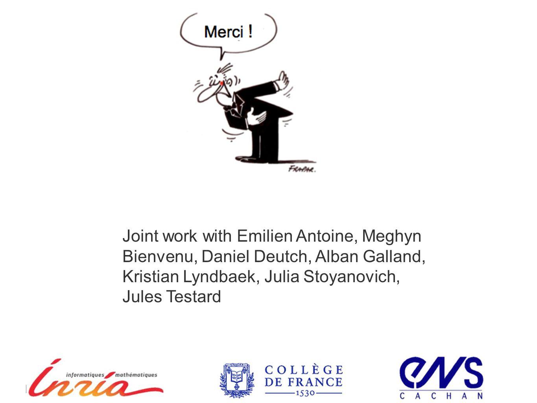 ICDE 2012Mai 30, 2012 Joint work with Emilien Antoine, Meghyn Bienvenu, Daniel Deutch, Alban Galland, Kristian Lyndbaek, Julia Stoyanovich, Jules Testard