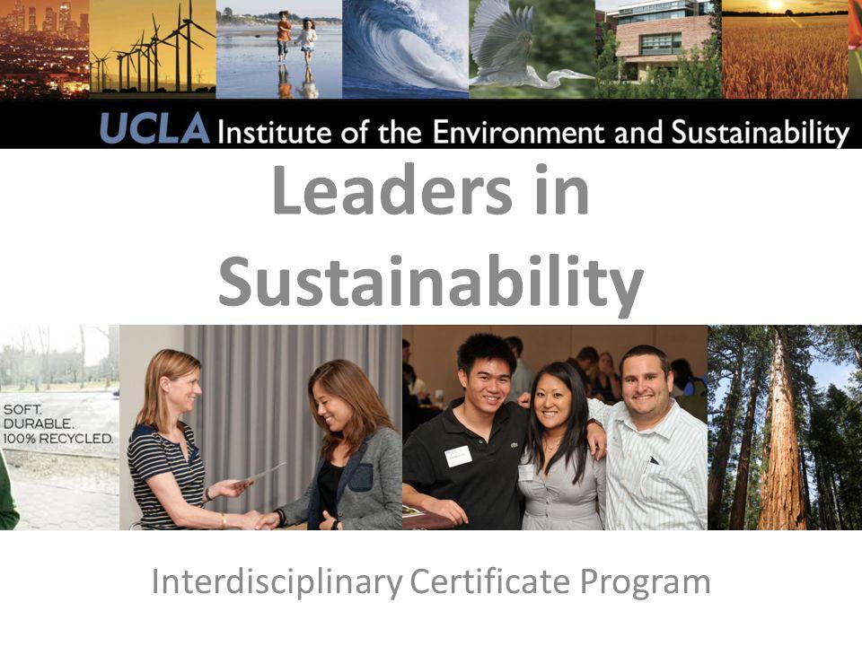 Interdisciplinary Certificate Program Leaders in Sustainability