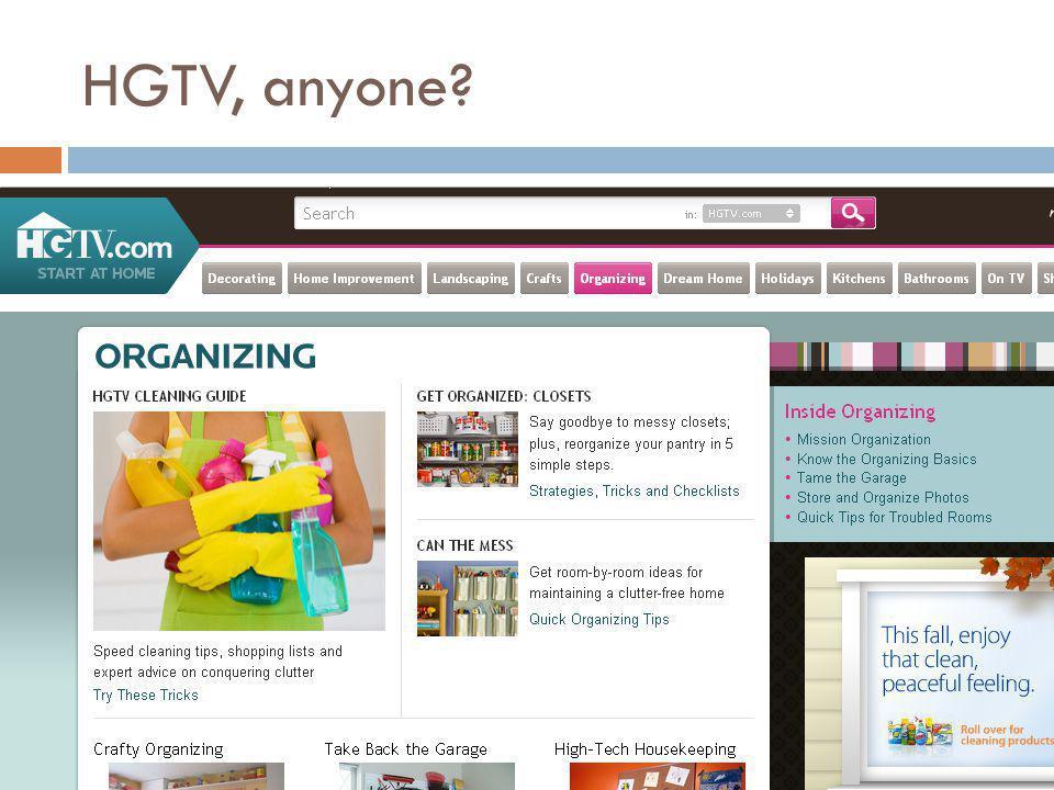 HGTV, anyone?