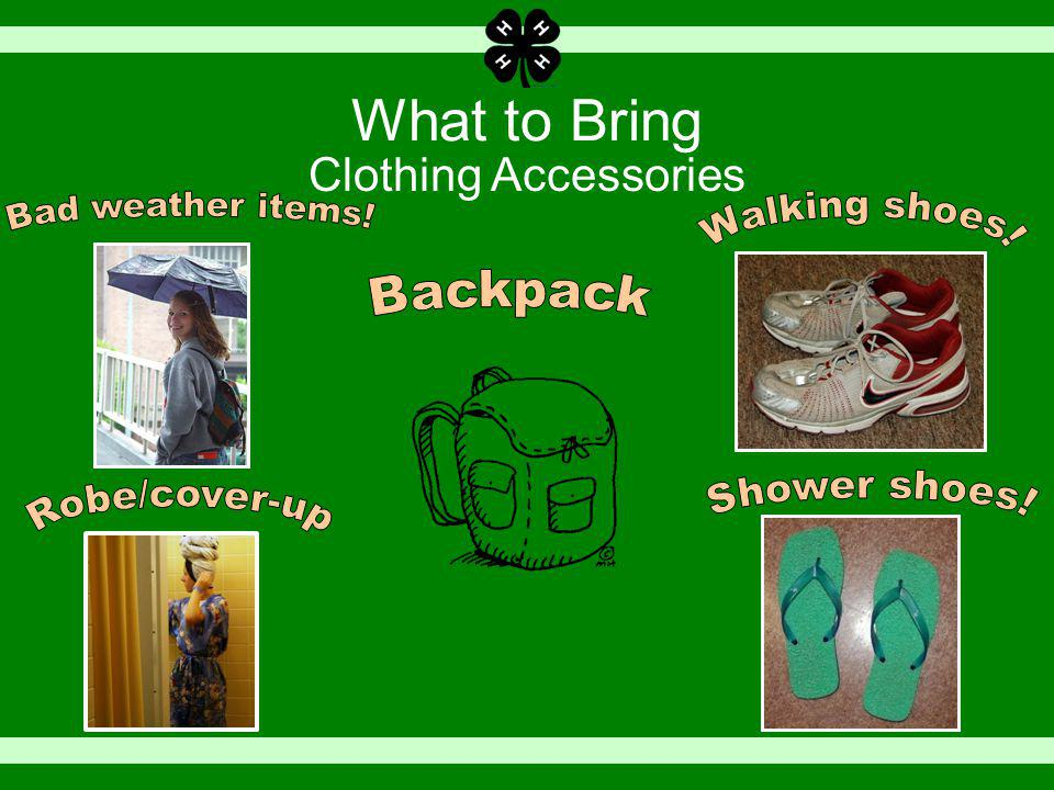 What to Bring Clothing Accessories
