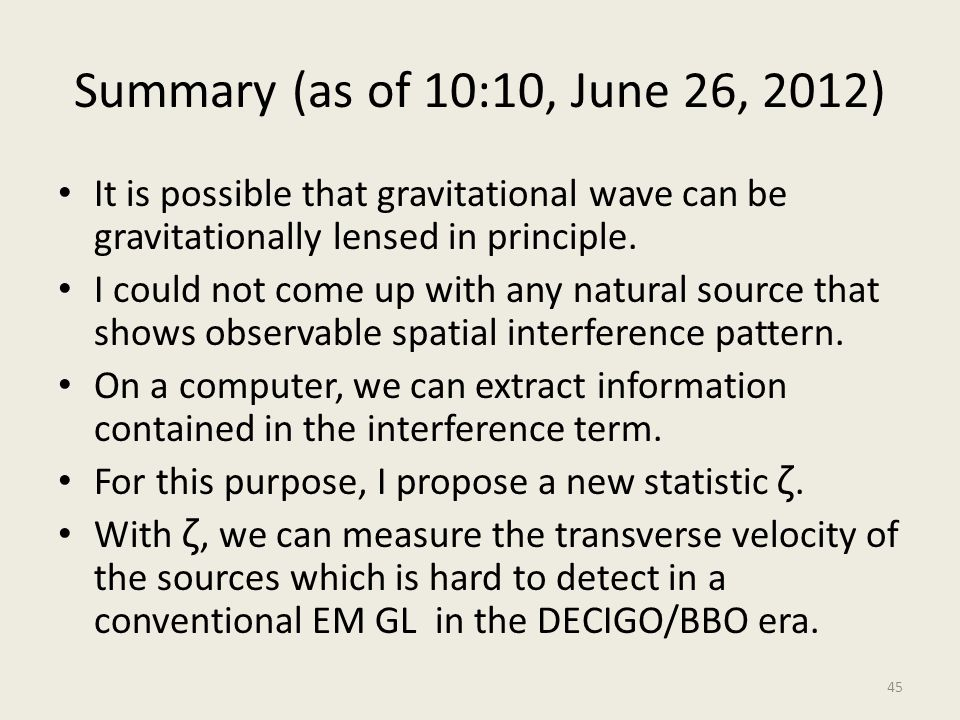 Summary (as of 10:10, June 26, 2012) It is possible that gravitational wave can be gravitationally lensed in principle. I could not come up with any n