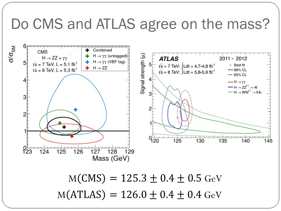 Do CMS and ATLAS agree on the mass?