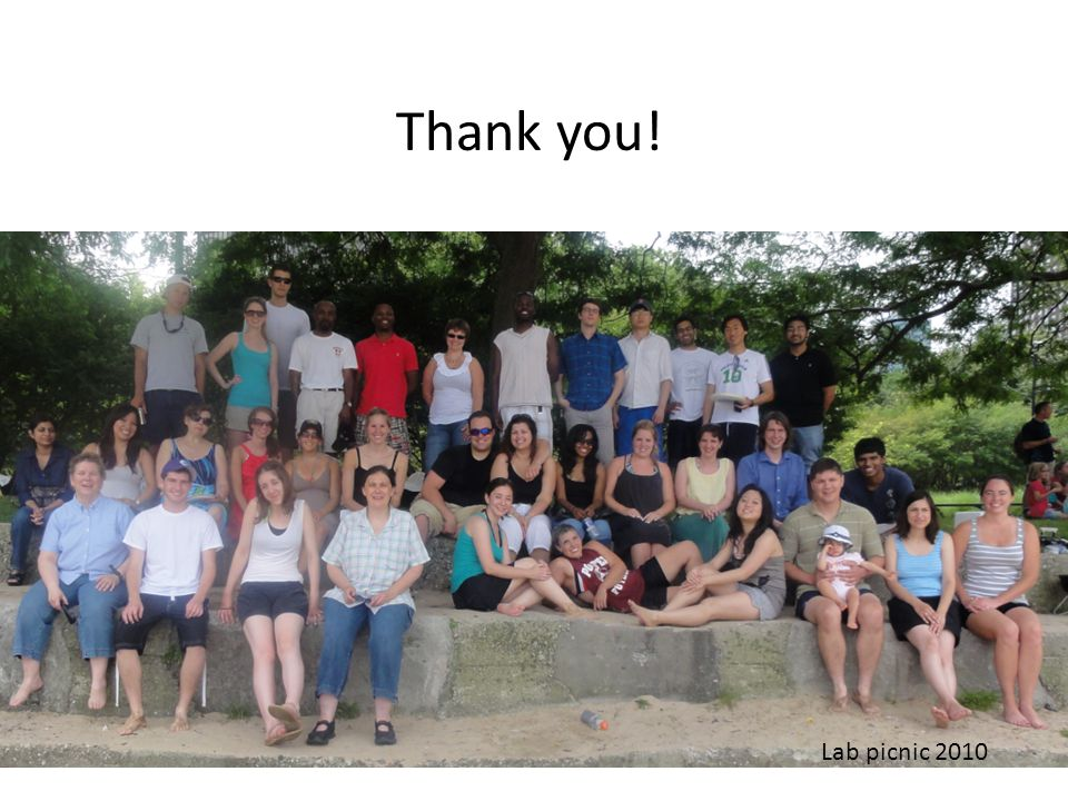 Lab picnic 2010 Thank you!