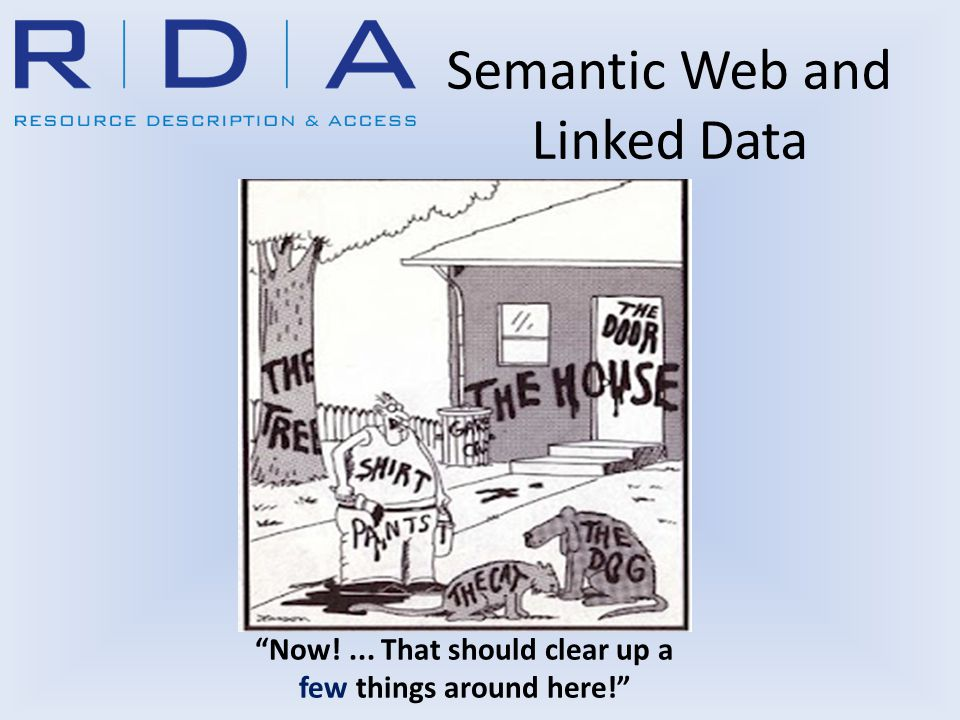 Semantic Web and Linked Data Now!... That should clear up a few things around here!