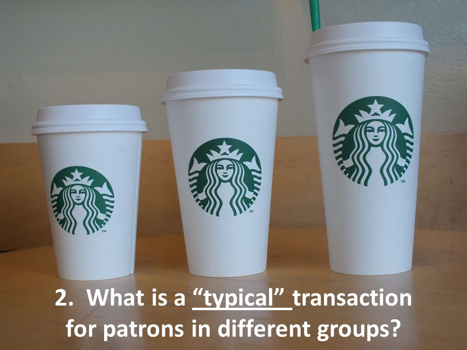 2. What is a typical transaction for patrons in different groups?