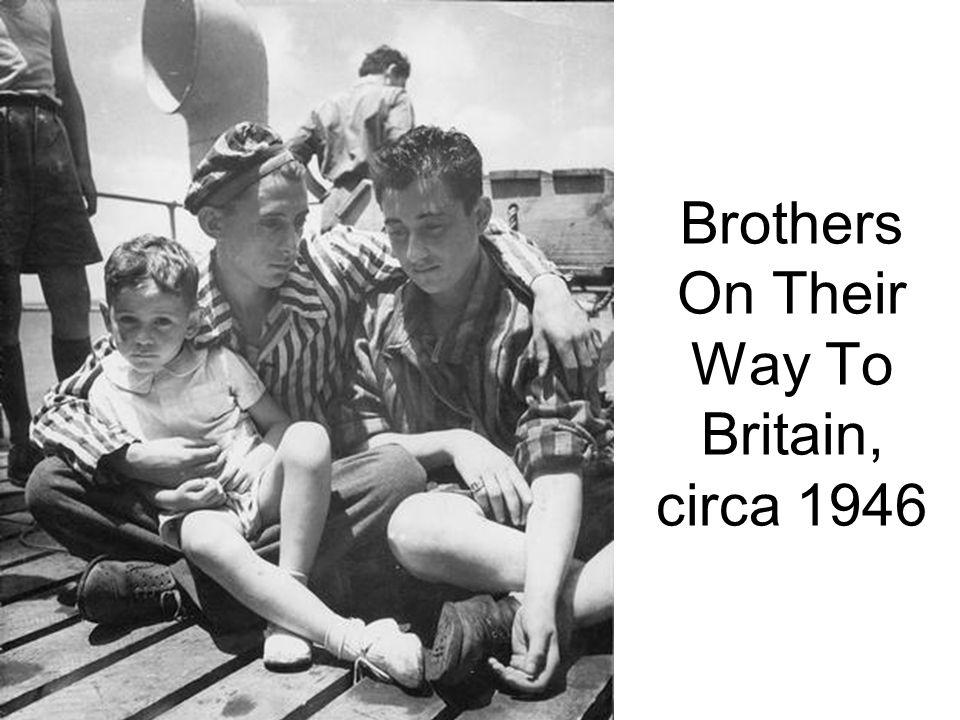 Brothers On Their Way To Britain, circa 1946