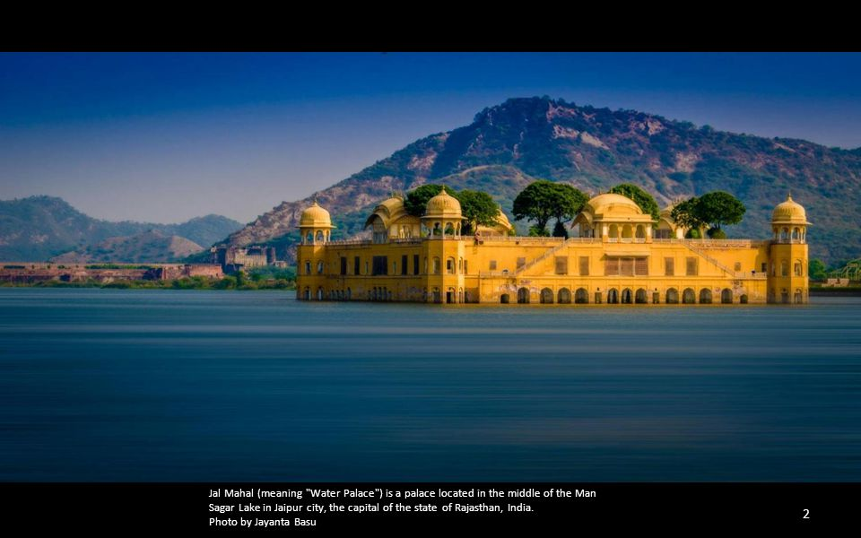 Jal Mahal (meaning Water Palace ) is a palace located in the middle of the Man Sagar Lake in Jaipur city, the capital of the state of Rajasthan, India.
