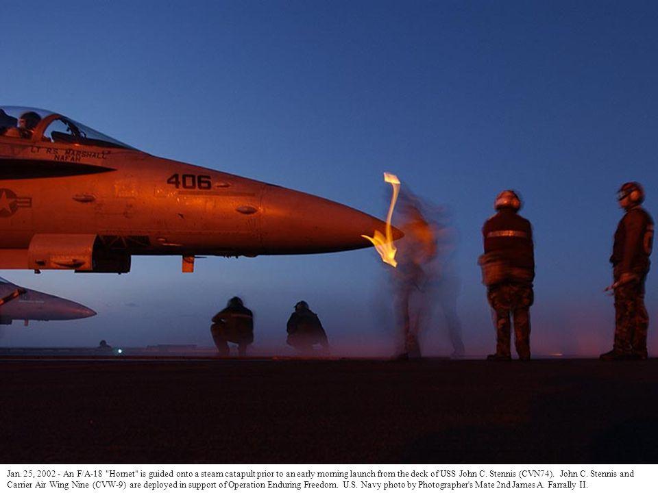 Jan. 25, 2002 - An F/A-18