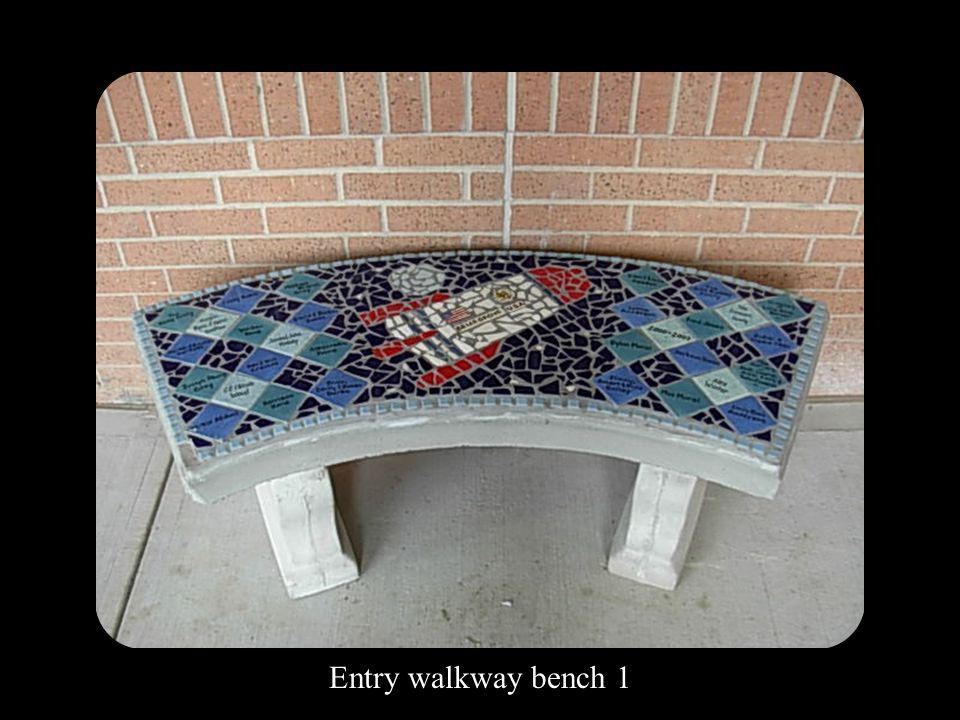 Entry walkway bench 1