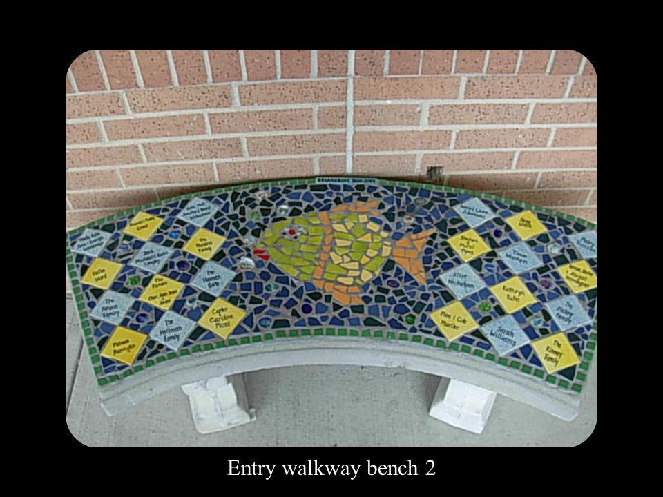 Entry walkway bench 2