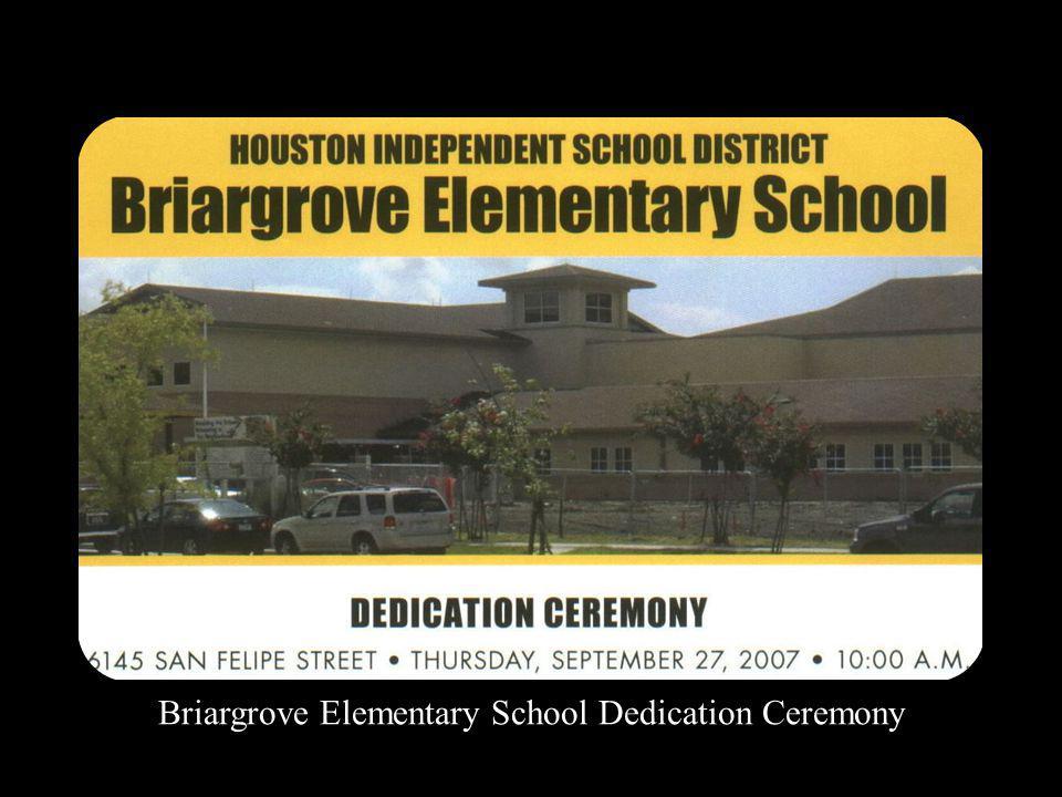 Briargrove Elementary School Dedication Ceremony