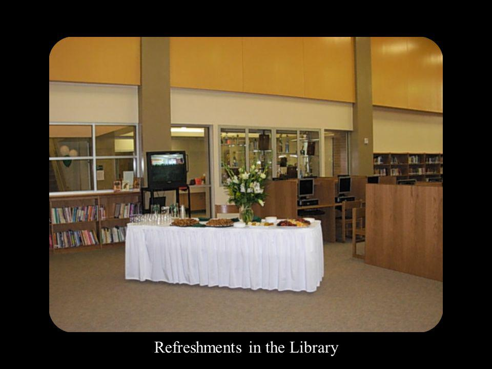 Refreshments in the Library