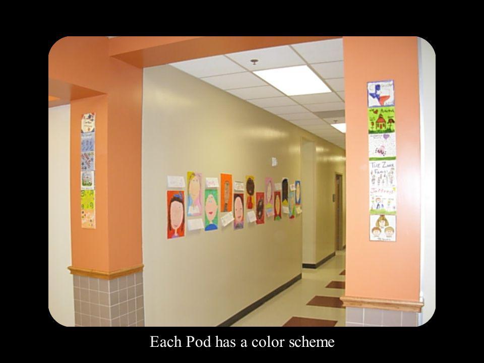 Each Pod has a color scheme