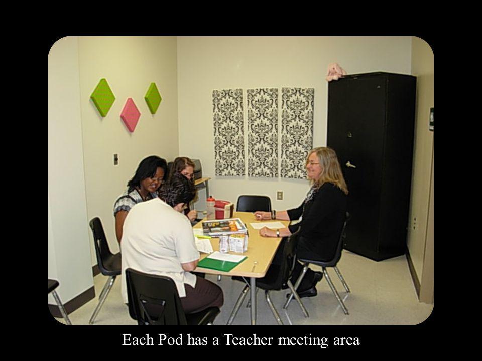 Each Pod has a Teacher meeting area