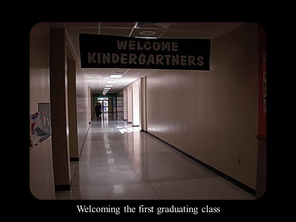 Welcoming the first graduating class