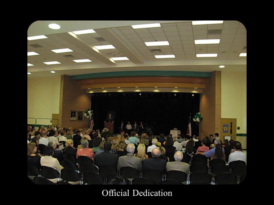 Official Dedication