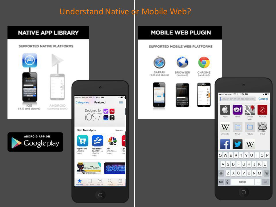 Understand Native or Mobile Web?