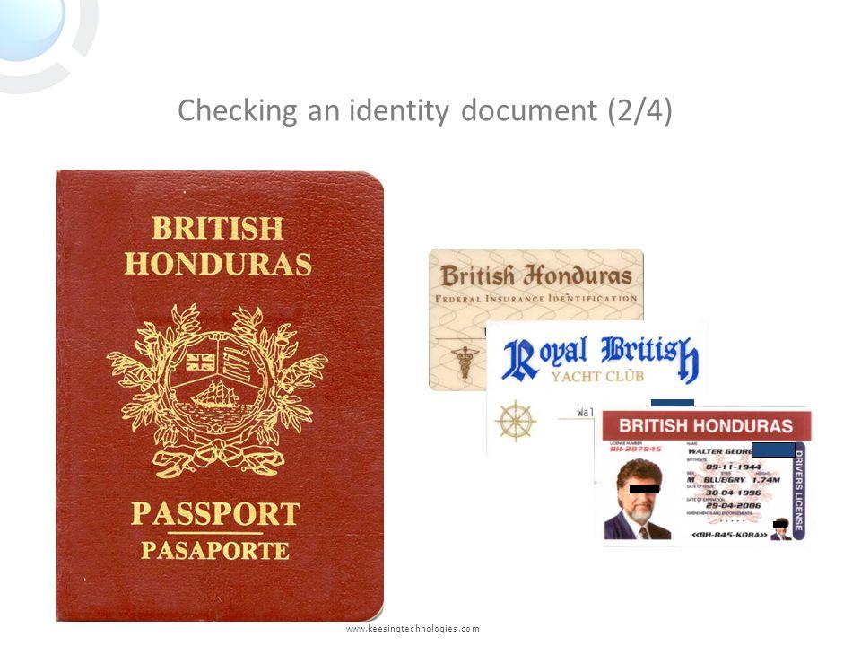 www.keesingtechnologies.com Checking an identity document (2/4)