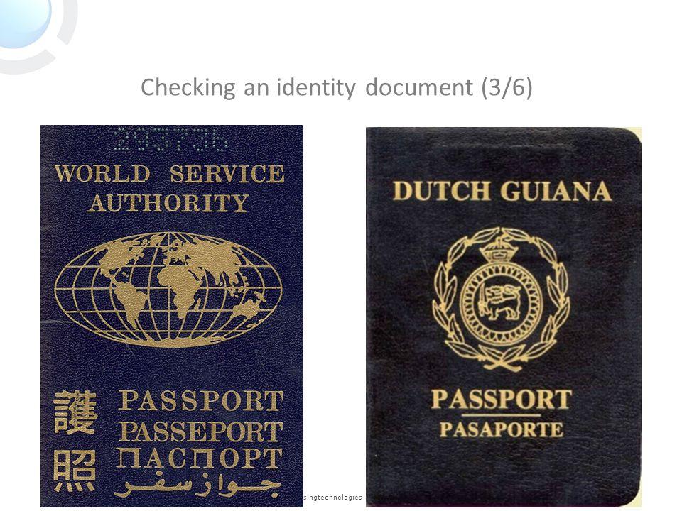 www.keesingtechnologies.com Checking an identity document (3/6)