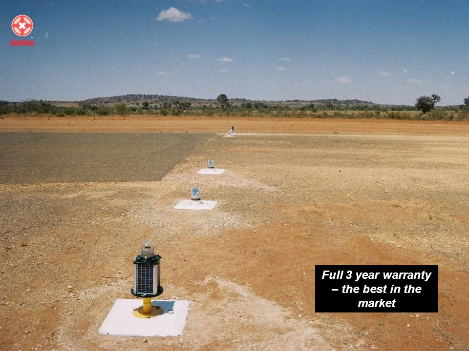 With reference to the solar lights that are being used at the Coen Airport for runway lights – I find them exceptionally good and hassle free in times of bad weather and poor sunlight conditions… I would not hesitate in recommending these lights for runway use on rural airports Airport Manager, Coen Airfield
