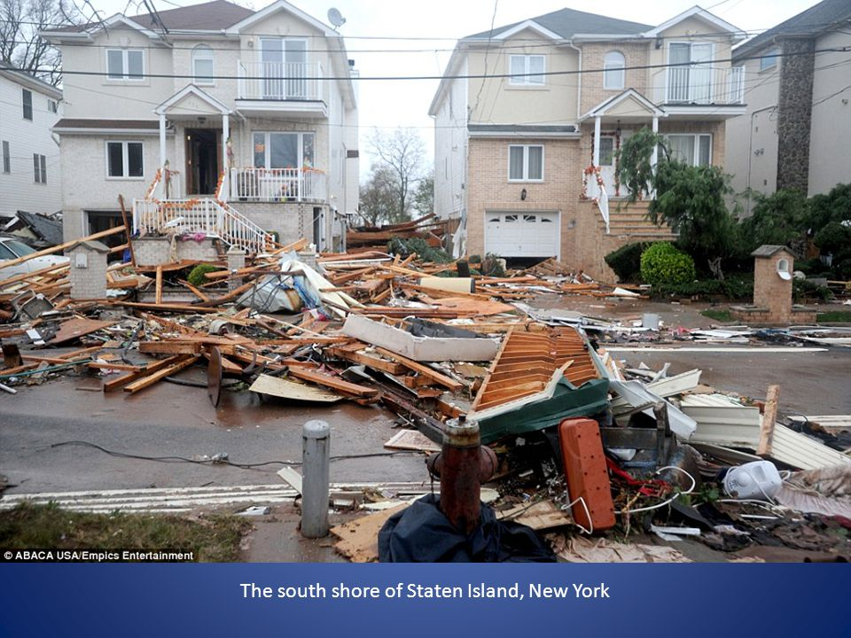 The south shore of Staten Island, New York