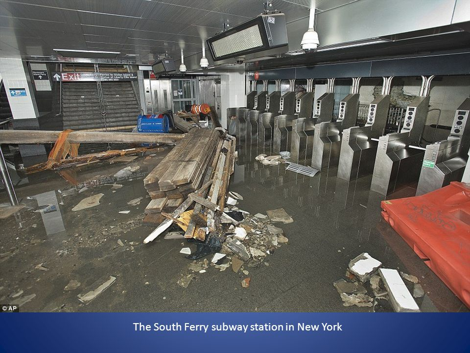 The South Ferry subway station in New York
