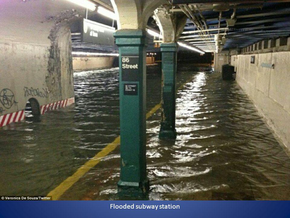 Flooded subway station