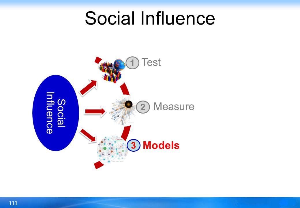 111 Social Influence Test Measure Models 1 2 3