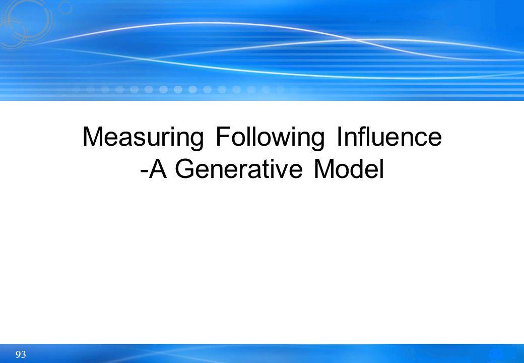 93 Measuring Following Influence -A Generative Model
