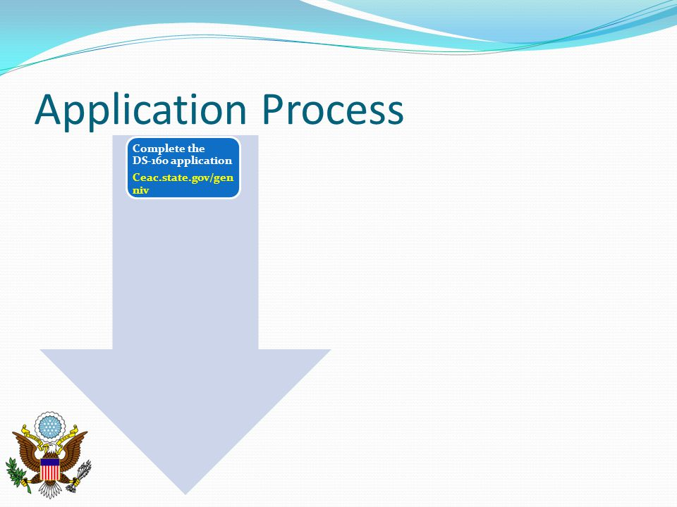 Application Process Complete the DS-160 application Ceac.state.gov/gen niv