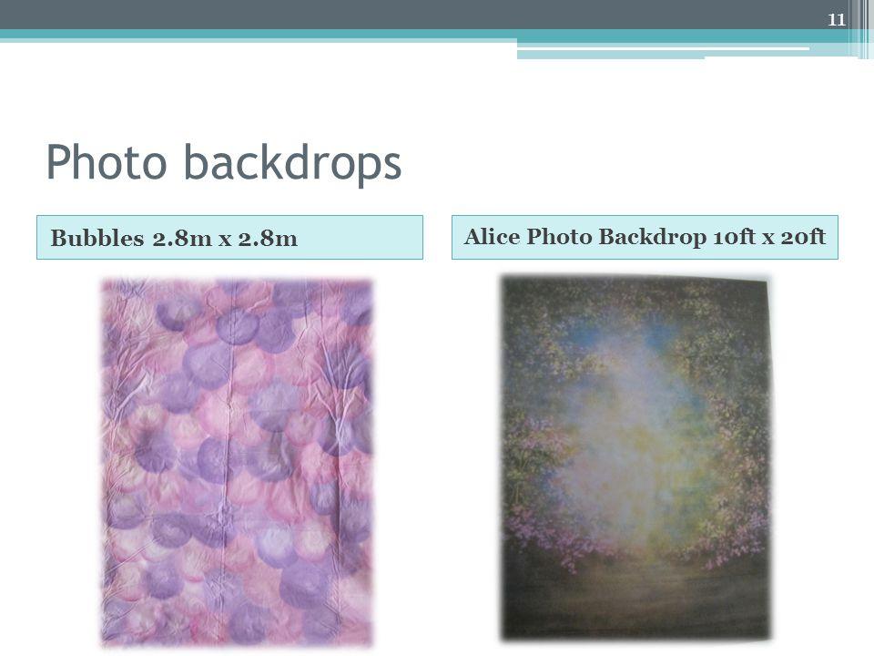 Photo backdrops Bubbles 2.8m x 2.8m Alice Photo Backdrop 10ft x 20ft 11