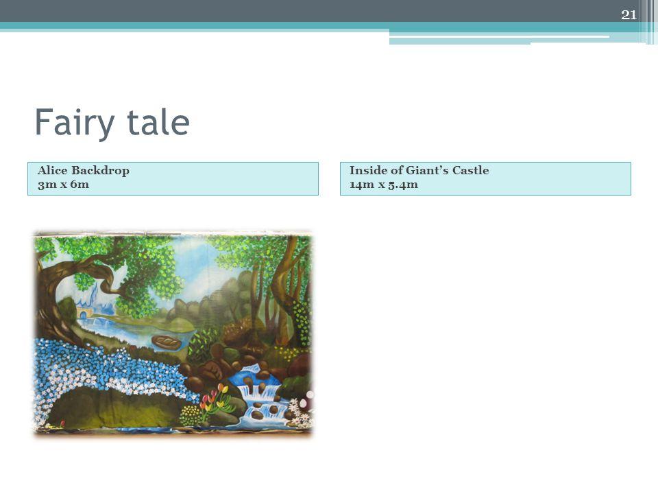 Fairy tale Alice Backdrop 3m x 6m Inside of Giants Castle 14m x 5.4m 21