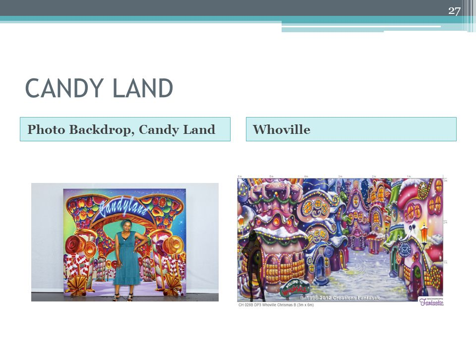 CANDY LAND Photo Backdrop, Candy LandWhoville 27