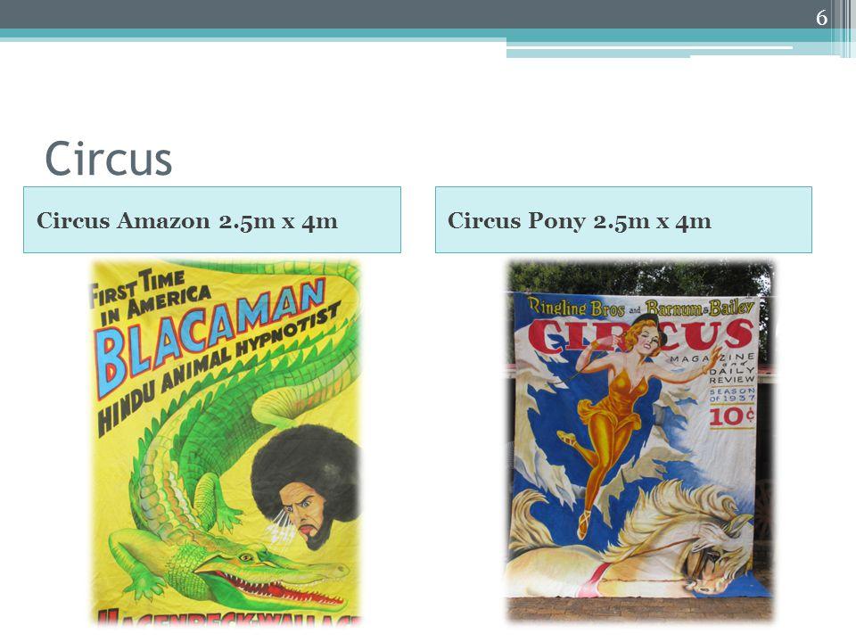 Circus Circus Amazon 2.5m x 4mCircus Pony 2.5m x 4m 6