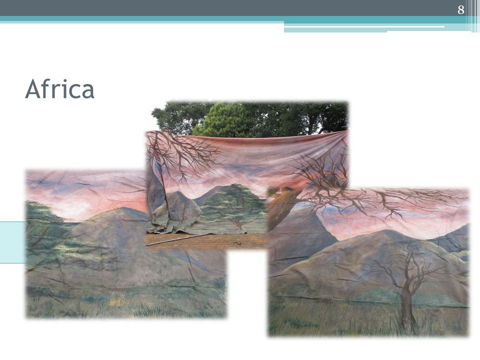 Africa African Sunset 4m x 10m 8