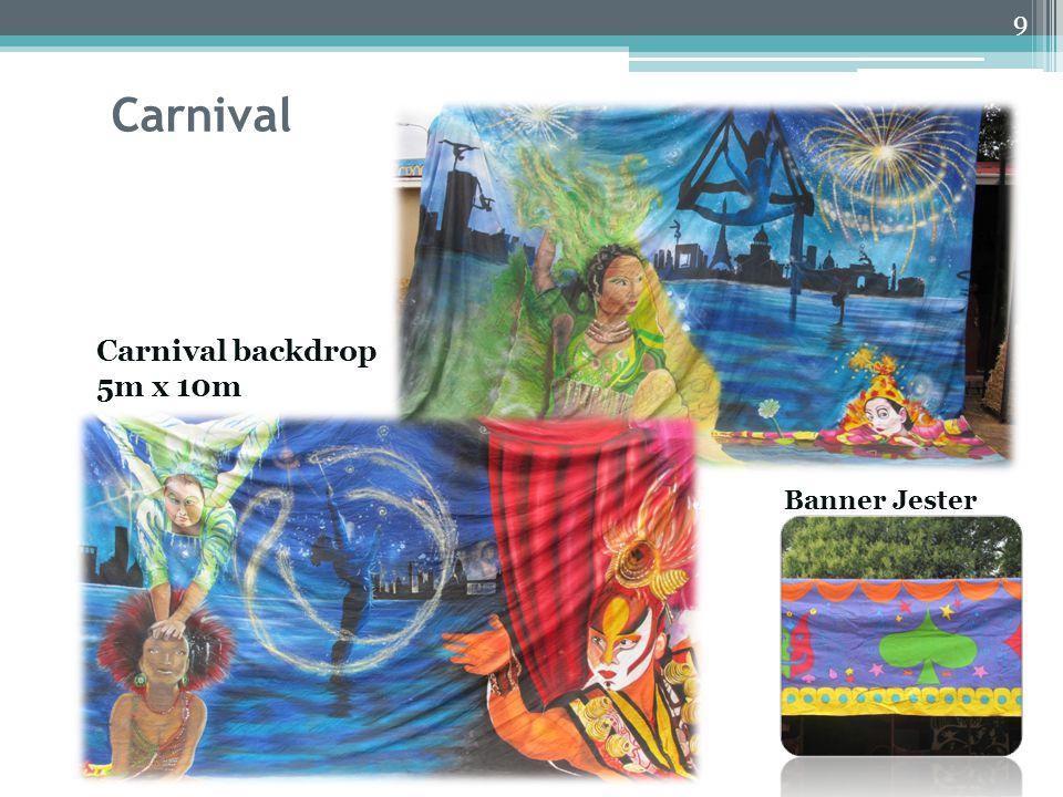 Carnival Carnival backdrop 5m x 10m 9 Jester Banner Jester