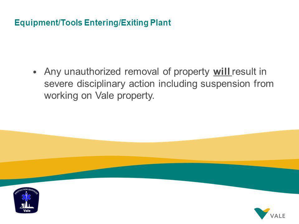 Equipment/Tools Entering/Exiting Plant Plastics #1, #2, #4, #5, #6 Look for the symbols.