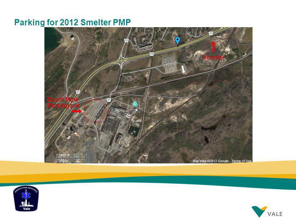 Parking for 2012 Smelter PMP Smelter South Mine Parking Lot