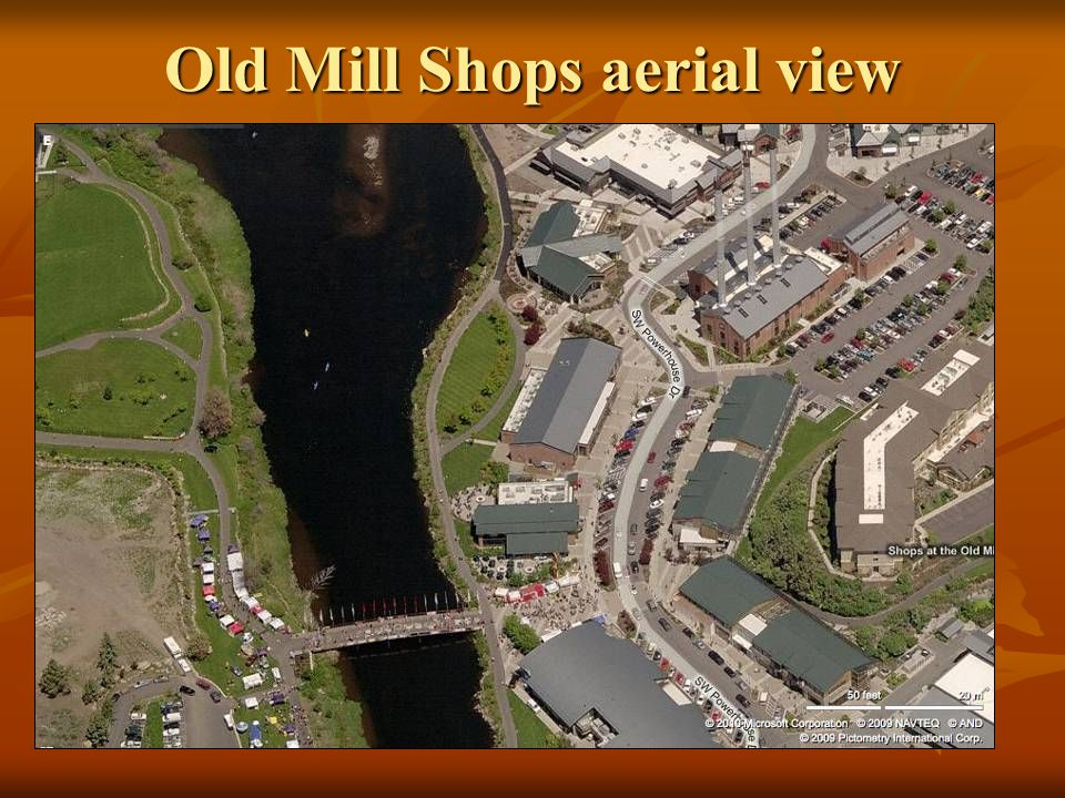 Old Mill Shops aerial view