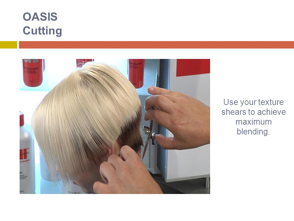 OASIS Cutting Use your texture shears to achieve maximum blending.