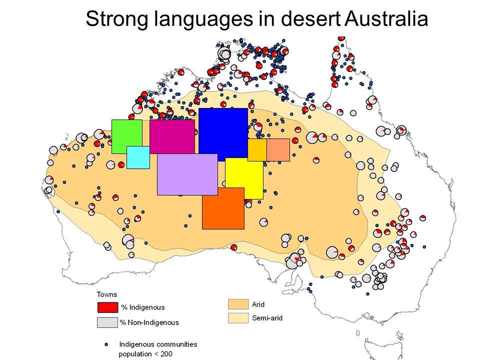 Strong languages in desert Australia