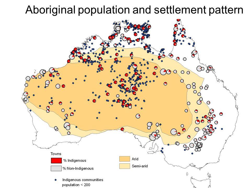 Aboriginal population and settlement pattern