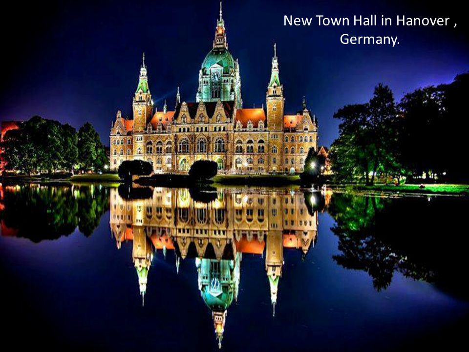 New Town Hall in Hanover, Germany.