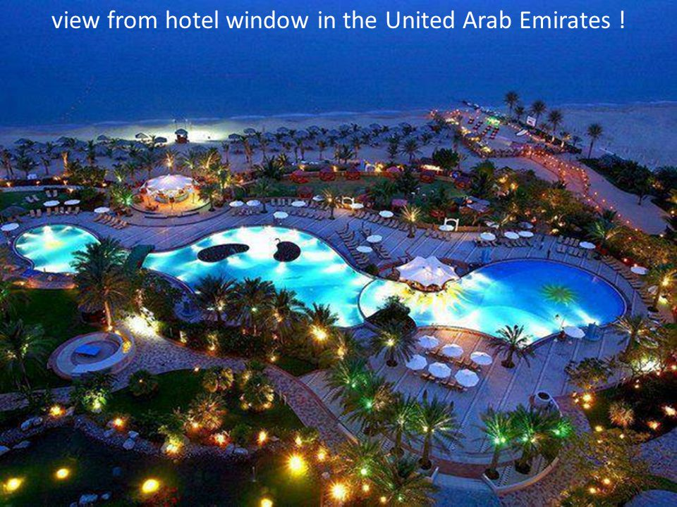 view from hotel window in the United Arab Emirates !
