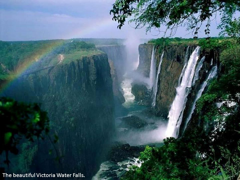 The beautiful Victoria Water Falls.