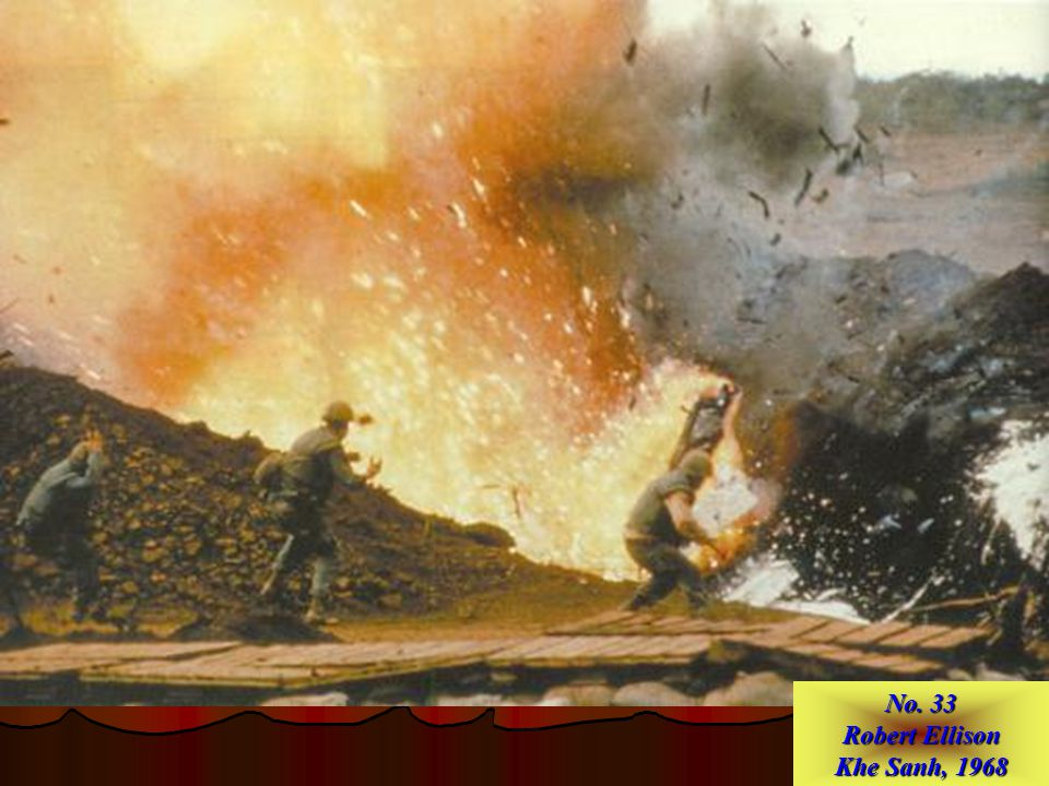 No. 34 Ken Jarecke Persian Gulf War Iraqi soldier in burned–out armored vehicle