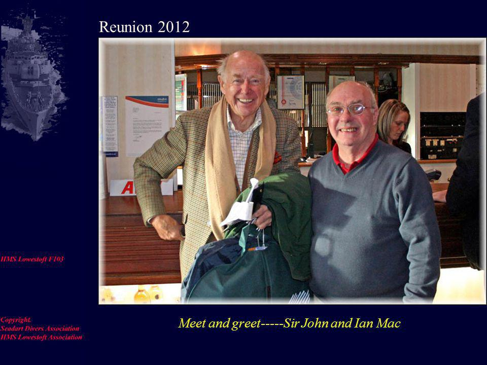 HMS Lowestoft photo gallery Reunion 2012 Oct 26-28 King Charles Hotel, Gillingham, Kent. Use your left mouse button to load the pic and move onto the